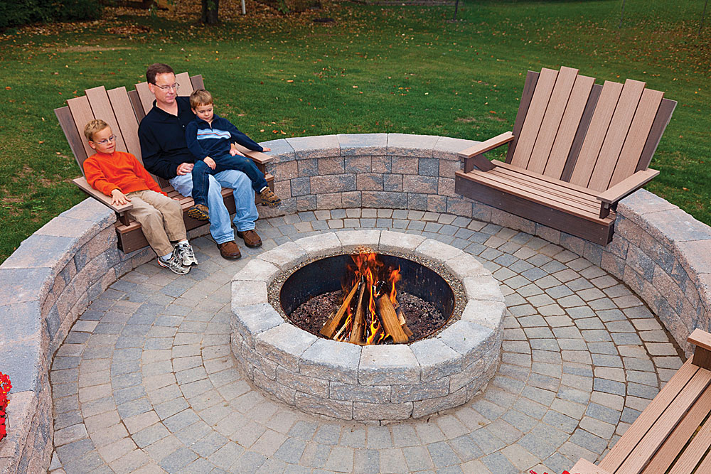 Stone Fire Pit Kits - Stone Fire Pit Kits FIREPLACE DESIGN IDEAS