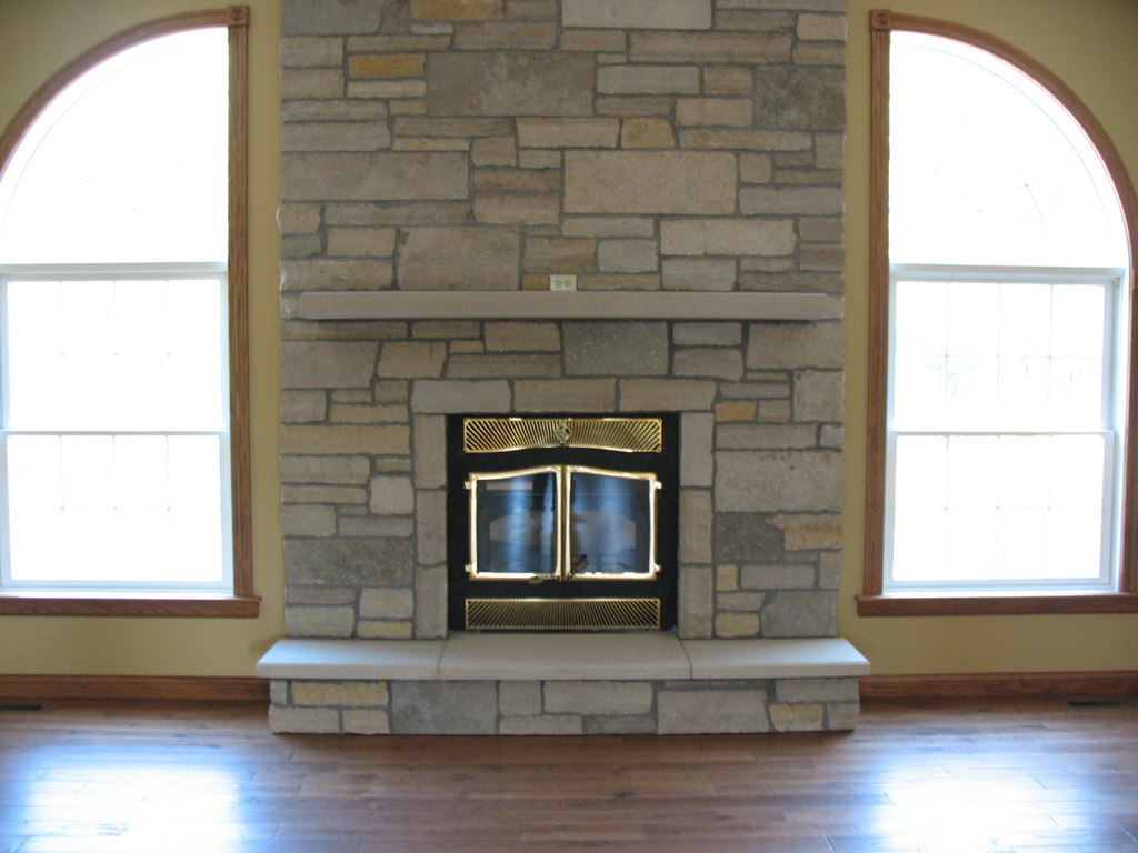 stone for fireplace. how to painting the stone fireplace white
