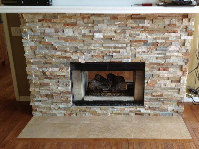 Installing fireplace tile surround can be messy do it - Stone fireplace surround ideas ...