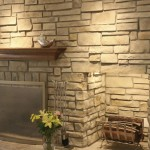 Stone Veneer Around Fireplace