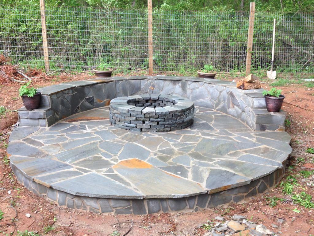 Stone Veneer Fire Pit