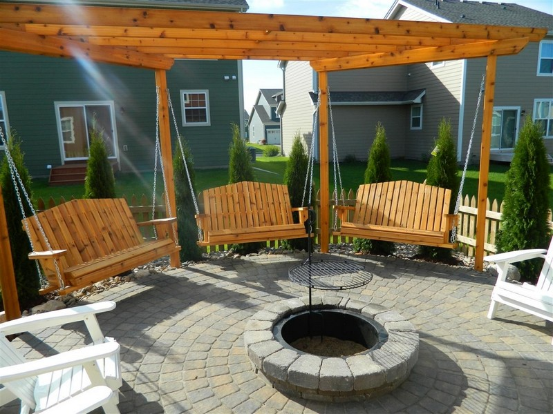 Swinging Bench Fire Pit