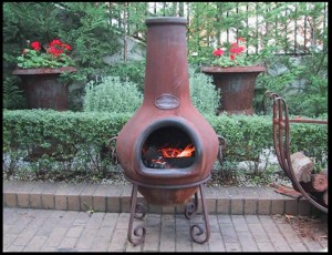 Terra Cotta Fire Pit Chimney