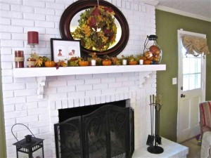 White Brick Fireplace Decorating Ideas