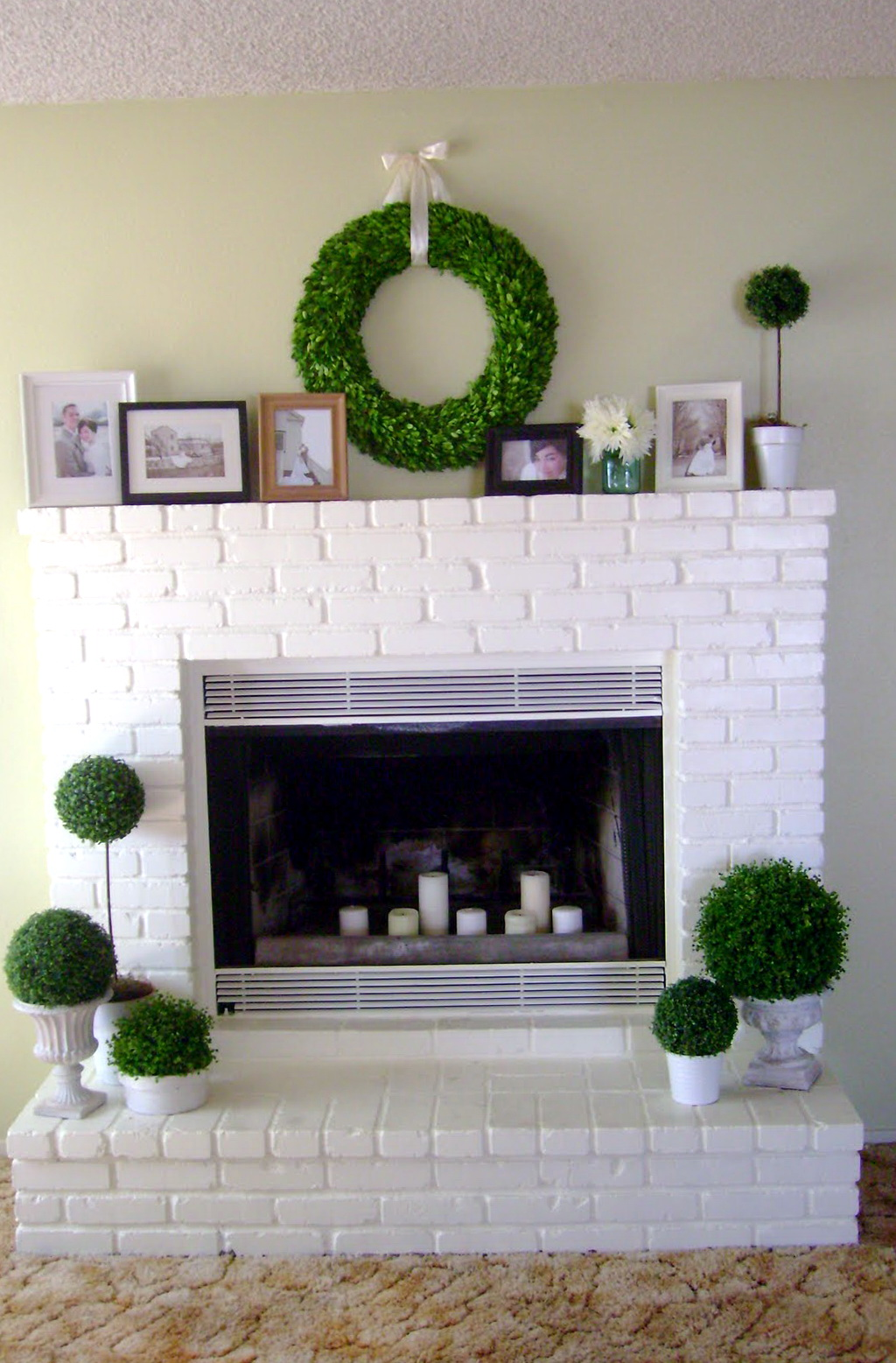 White brick fireplace makeover fireplace design ideas Fireplace design ideas