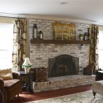 White Brick Fireplace Makeover
