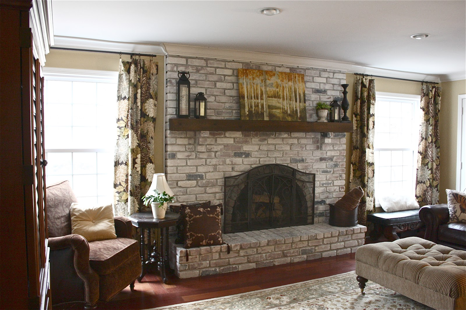 Living room ideas with red brick fireplace - Living Room Designs With Red Brick Fireplace Grotlycom