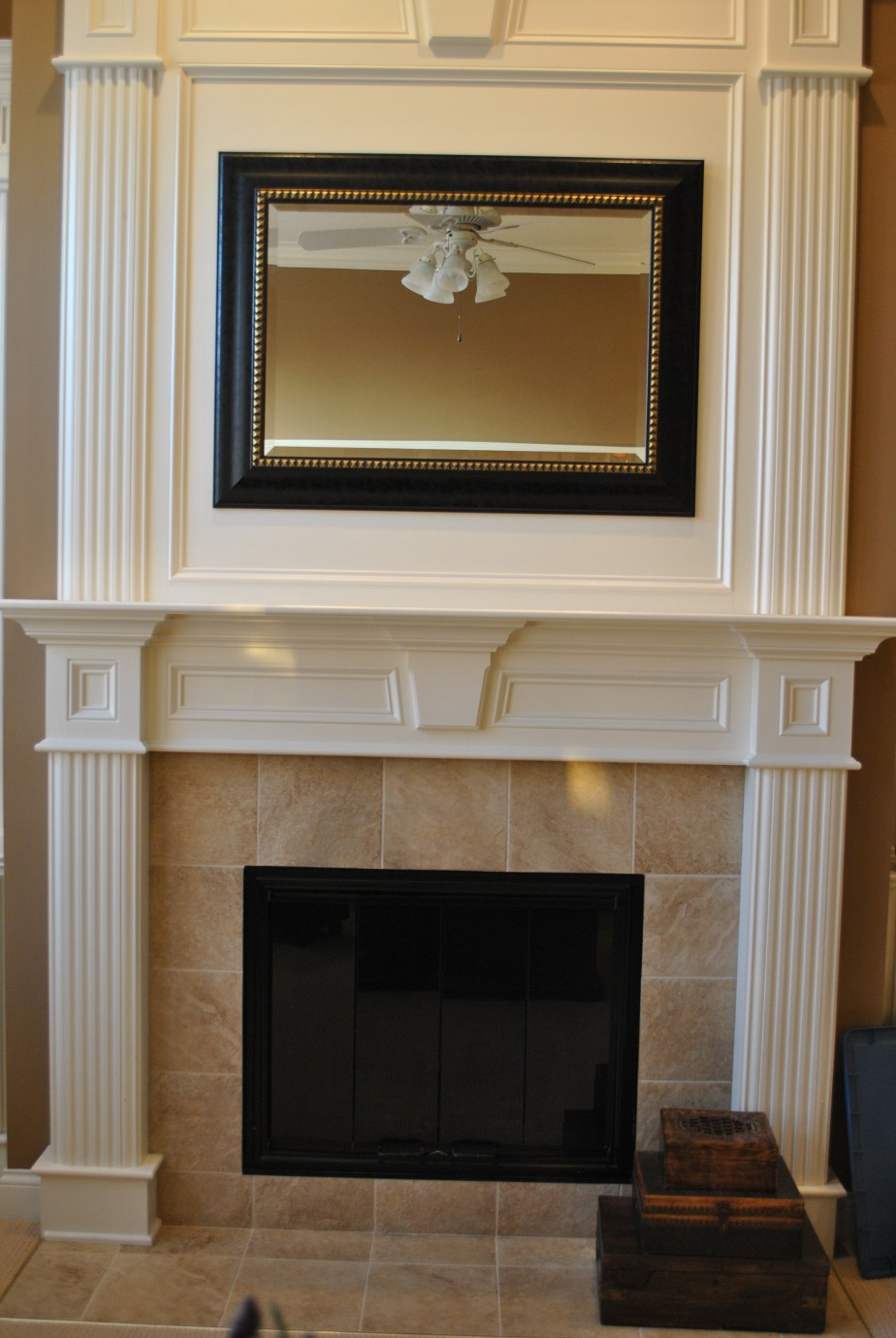White fireplace surround ideas fireplace design ideas - Brick fireplace surrounds ideas ...