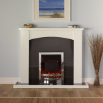 White Fireplace Surround Plaster