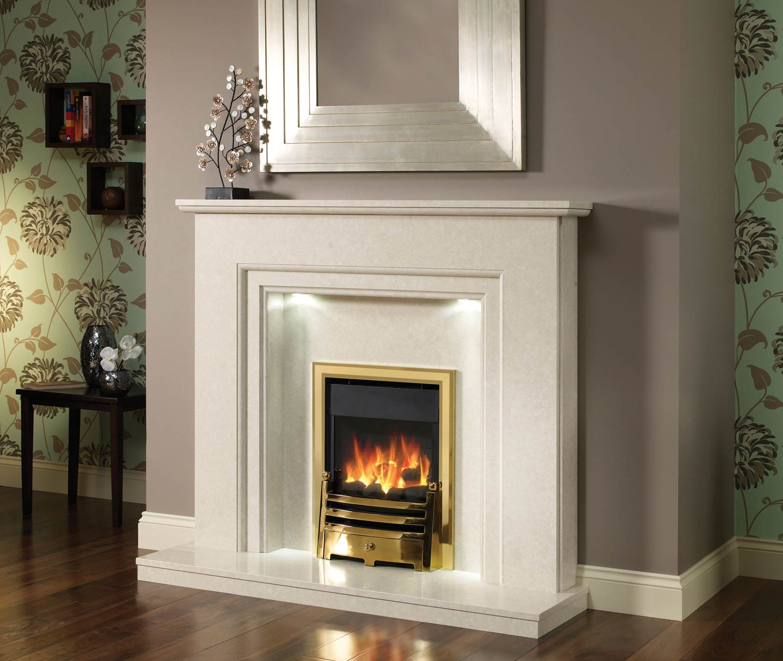 Types of white fireplace surround fireplace design ideas - Brick fireplace surrounds ideas ...