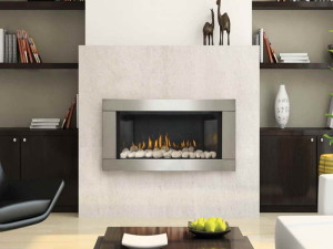 White Stone Electric Fireplace