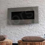 White Stone Fireplace Surround