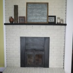 White Wash Brick Fireplace