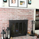 White Washed Brick Fireplace