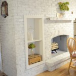 Whitewash a Brick Fireplace