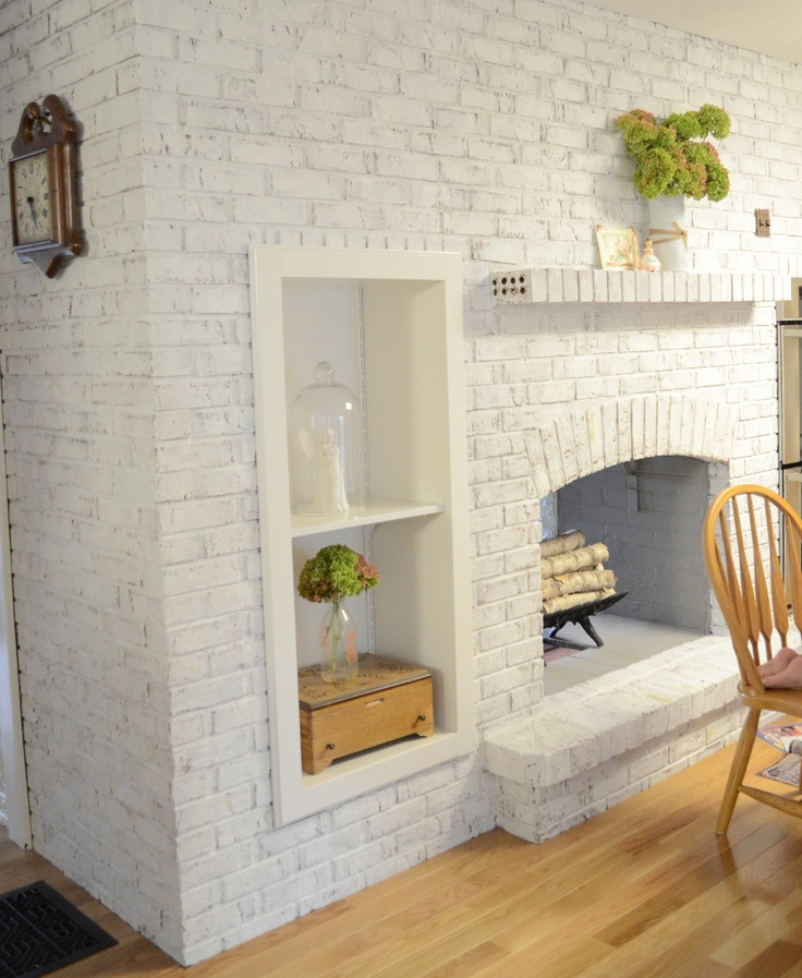 Whitewash A Brick Fireplace FIREPLACE DESIGN IDEAS