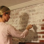 Whitewash Brick Fireplace Paint