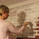 Whitewash Brick Fireplace Paint