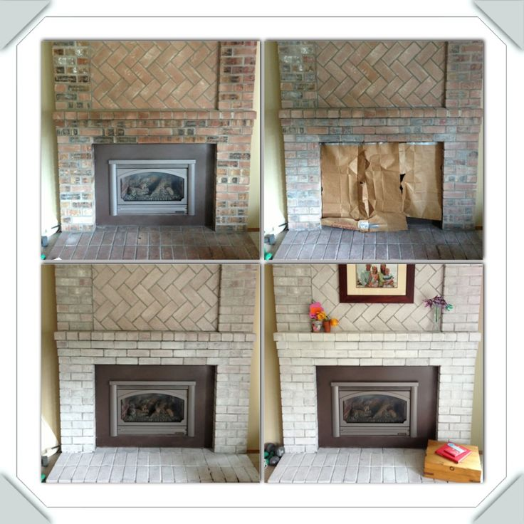 Whitewashing Brick Fireplace Surround Fireplace Design Ideas