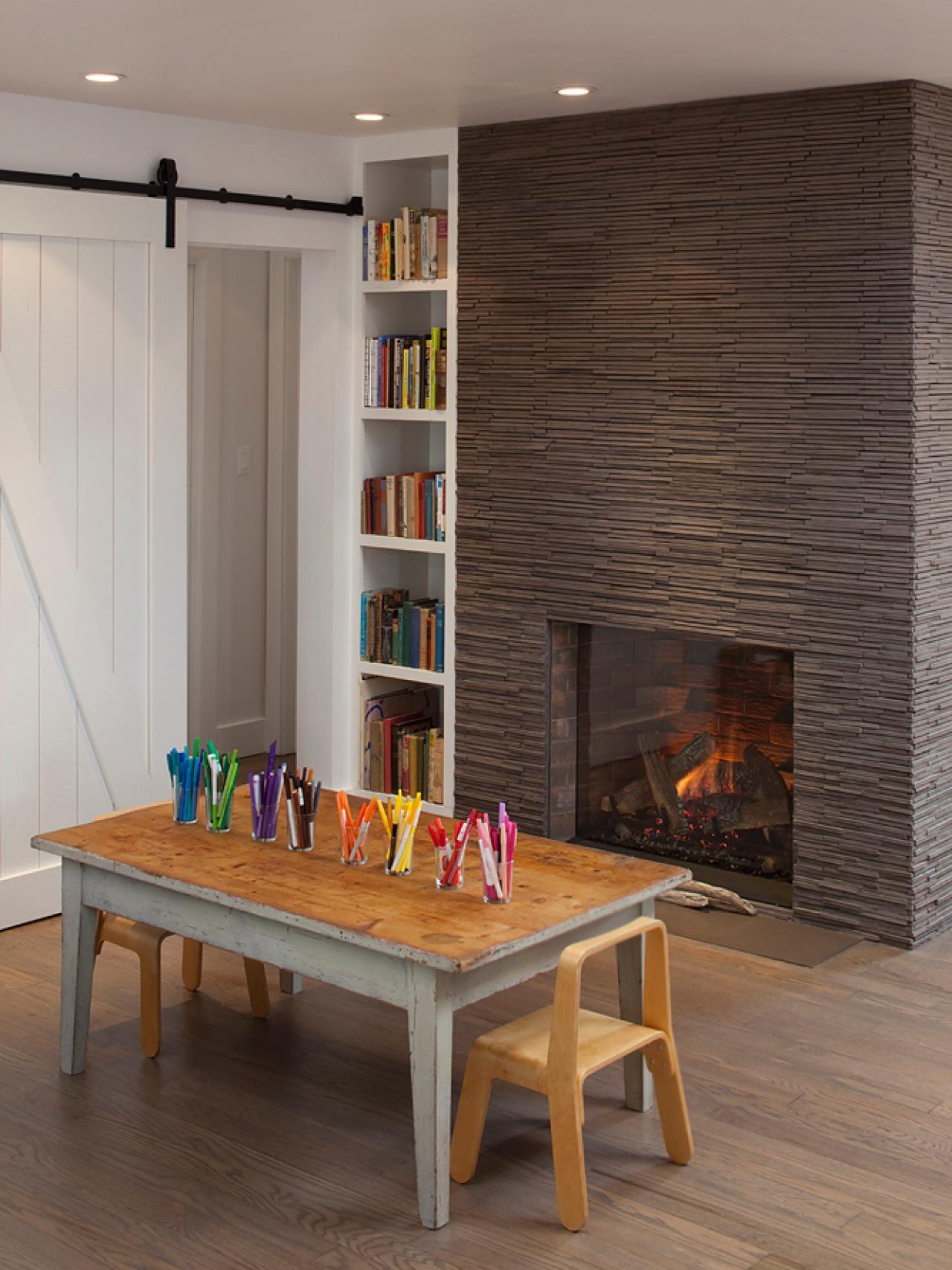 wood tile fireplace surround fireplace design ideas