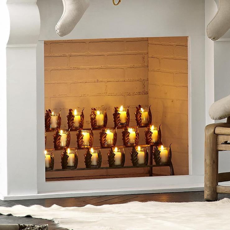 Candle Holders for Fireplace Hearth