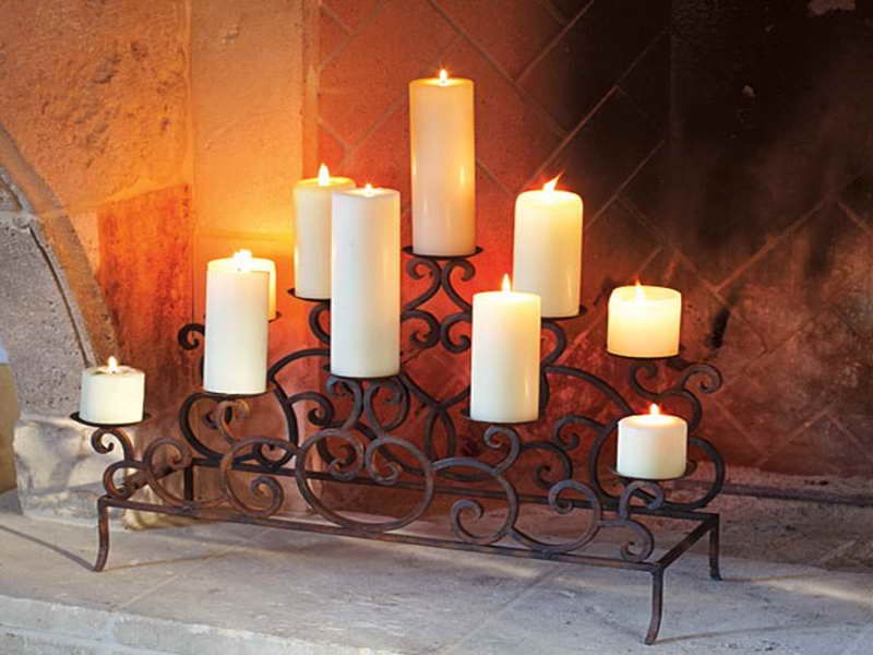 Candle holders for fireplace mantel fireplace design ideas for Mantle holders