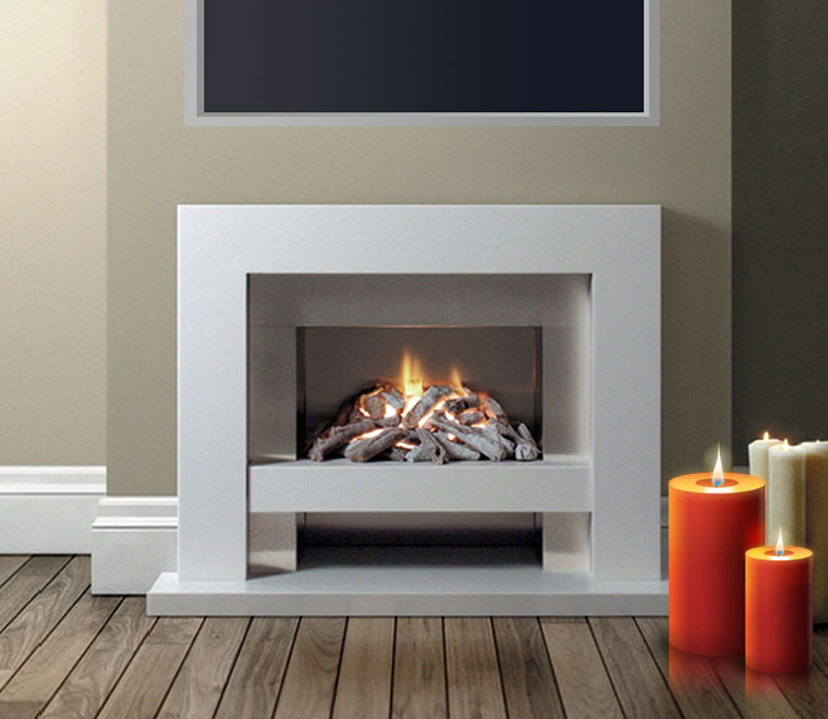 Contemporary Fireplace Mantels and Surrounds