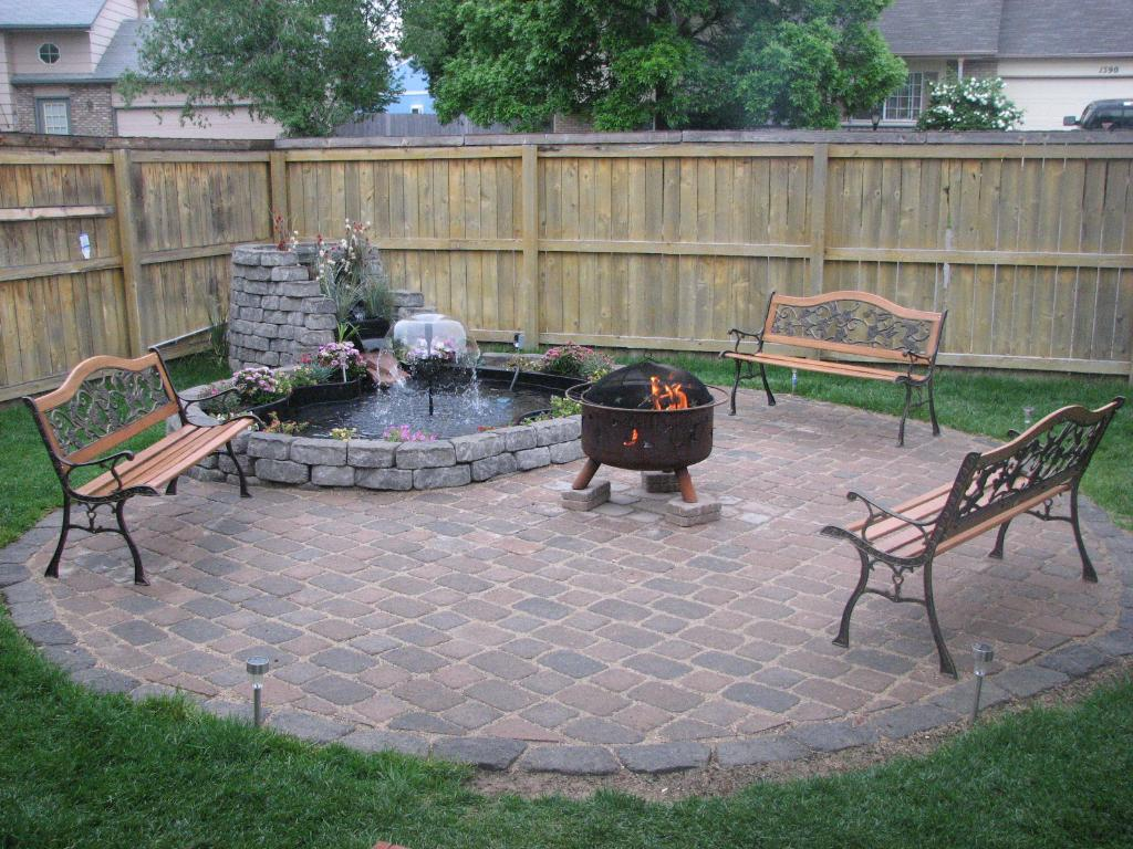 Patio Design Ideas With Fire Pits contemporary style of outdoor patio design with fire pit and minimalist sectional sofa fire pit Fire Pit Ideas For Backyard