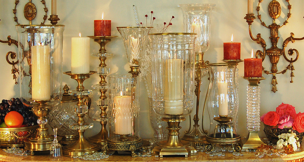 Large Candle Holders for Fireplace