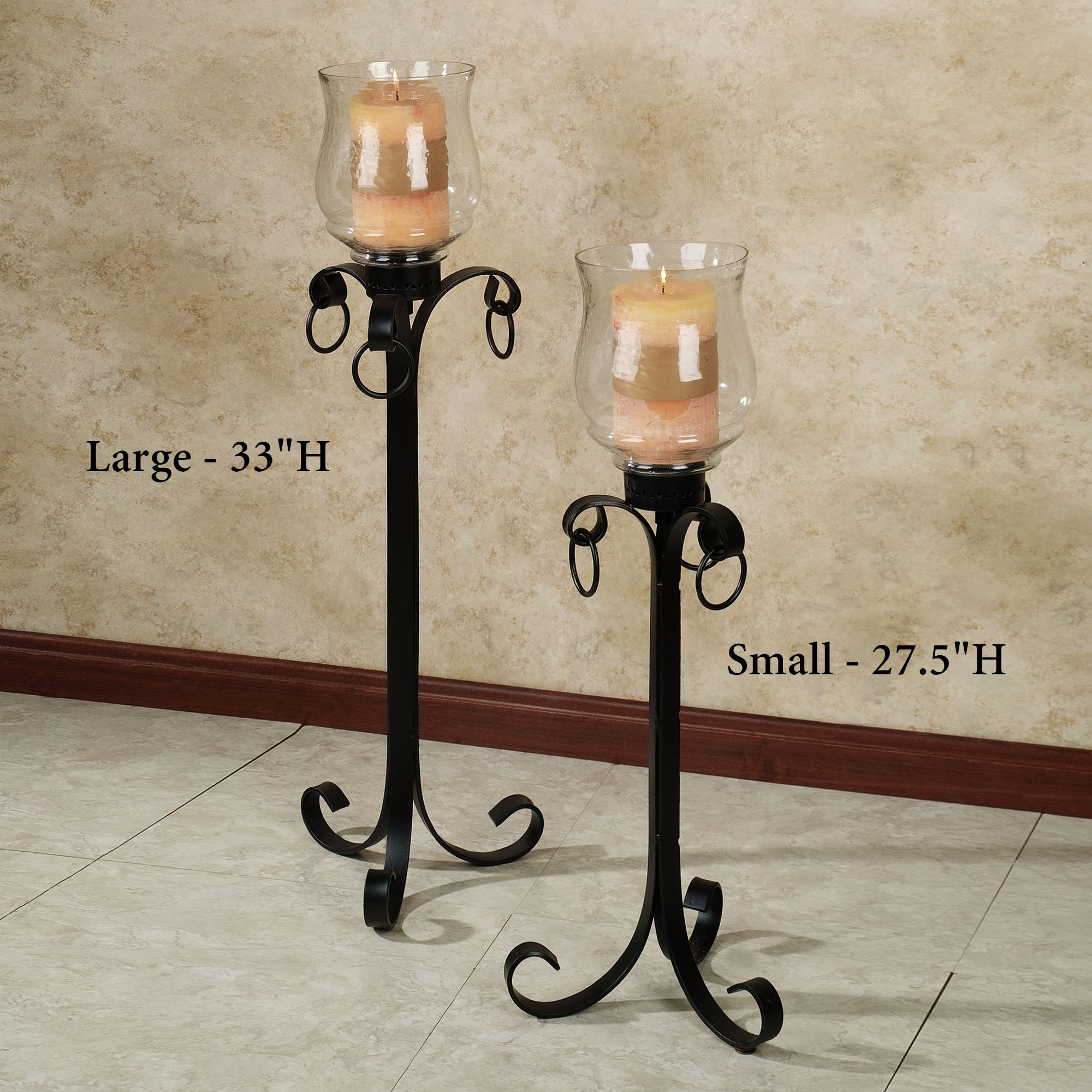 Tall Candle Holders for Fireplace