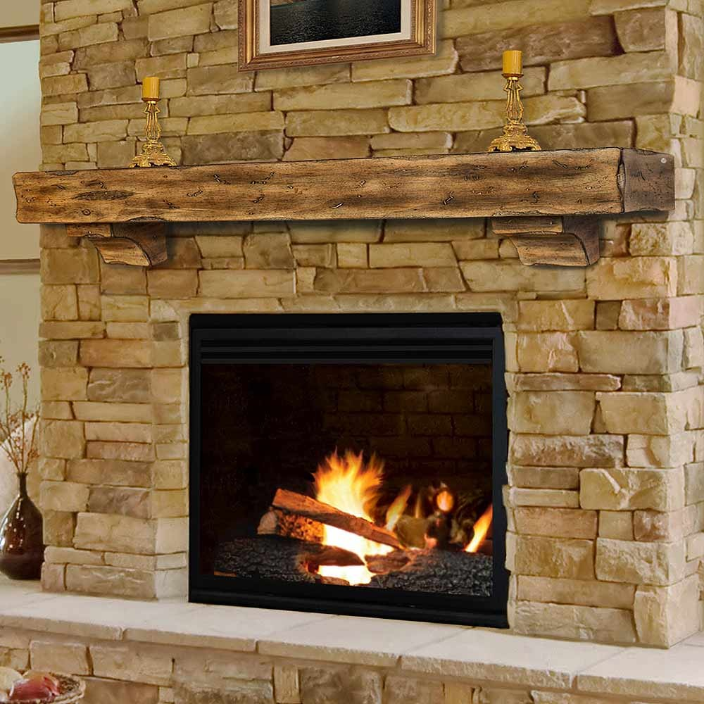 Wood fireplace mantel shelves fireplace design ideas for Wood fireplace surround designs