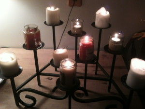 Wrought Iron Candle Holder for Fireplace