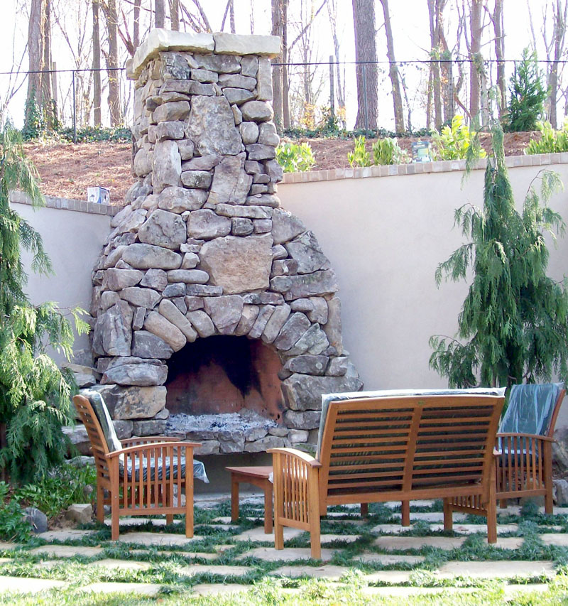 natural stone outdoor fireplace fireplace design ideas