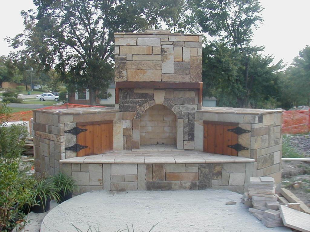 Fireplace design ideas part 2 for Outdoor fireplace blueprints
