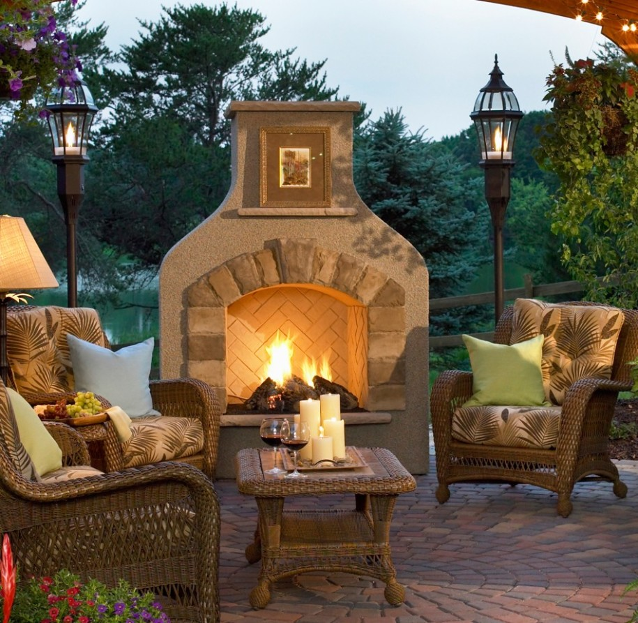 outdoor patio fireplace design ideas patio designs for 2017 - Patio Fireplace Designs