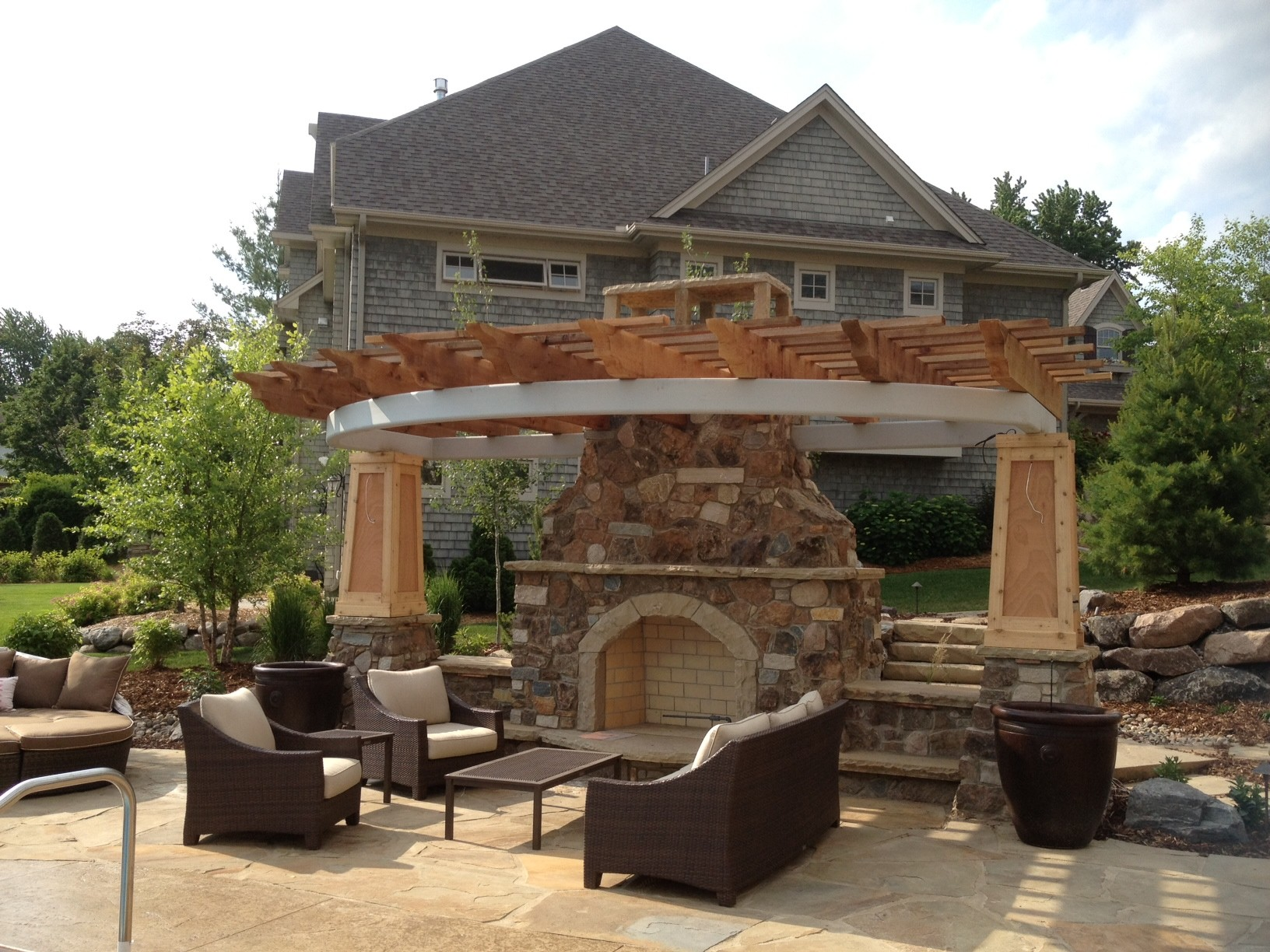 Stone Fireplace Kits Outdoor